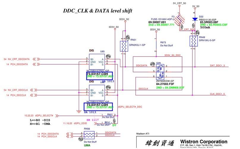 hm55双显卡切换电路分析