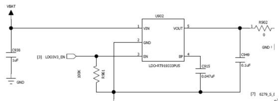 15. 七彩灯不良: 15.1 单个灯不亮: 如下图,若DHL10不亮,先看DHL10本身有无不良(在第15页介绍过测量方法),再检查L904与DHL10之间是否开路,DHL10与U904第26脚之间是否开路,或者U904第26脚是否US,U904是否CD;  15.2 全部灯不亮: 首先检查L904是否US或WP,再检查U904第3脚的逻辑供电,若没有可先检查R902是否WP,CPU输出的LDO使能信号,还有VBAT;  若逻辑电压供给正常,则应再检查CPU输出的串行数据输入信号,时钟信号,锁相使能信号