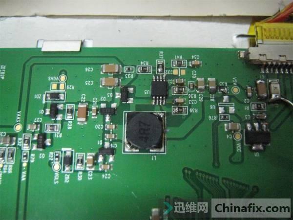 电脑显示器电路板接线图解