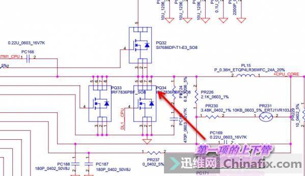 既然上下管都没有问题那就好办了,看来短路是在电容上了,但是CPU供电电路的滤波电容不少,没有办法只能一个一个的去测,经过测量发现滤波电容C562有问题,更换后解决。见下图:  现在短路基本处理好了,接可调电源公共点VIN有19V正常输出了B+正常。见下图:   开机没有反应,测量发现没有待机,真是没这么容易就好啊。见下图:   这个机器的待机芯片是MAX8734AEEI。测待机芯片MAX8734AEEI的供电正常。见下图:  测待机芯片MAX8734AEEI的18脚LDO5输出5V正常。见下图:  测待机