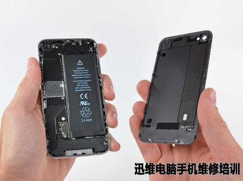 苹果4s听筒拆机图_苹果iPhone4拆机图解教程_迅维电脑维修培训