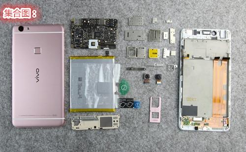 vivo智能手机x6plus做工很优秀,主板工整,主板上有多处有屏蔽罩且贴