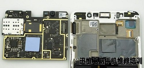 下图为魅族pro6 plus的上下主板排线和电池排线特写.
