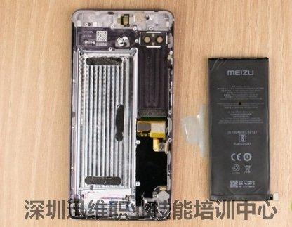 接下来拆解电池,魅族pro 7 plus电池容量为3500mah.