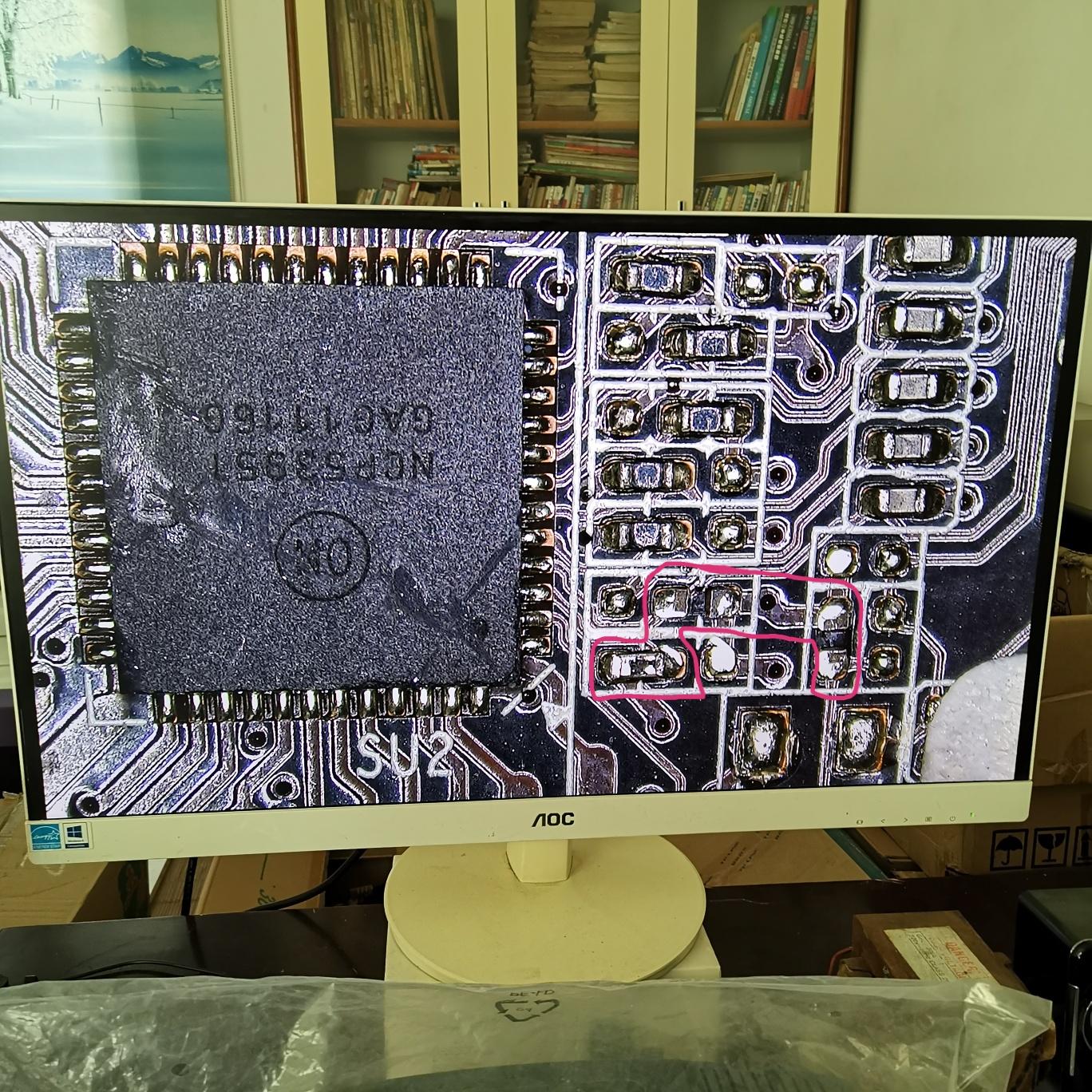 铭瑄GTS450显卡开机正常显示,进系统黑屏维修 图11