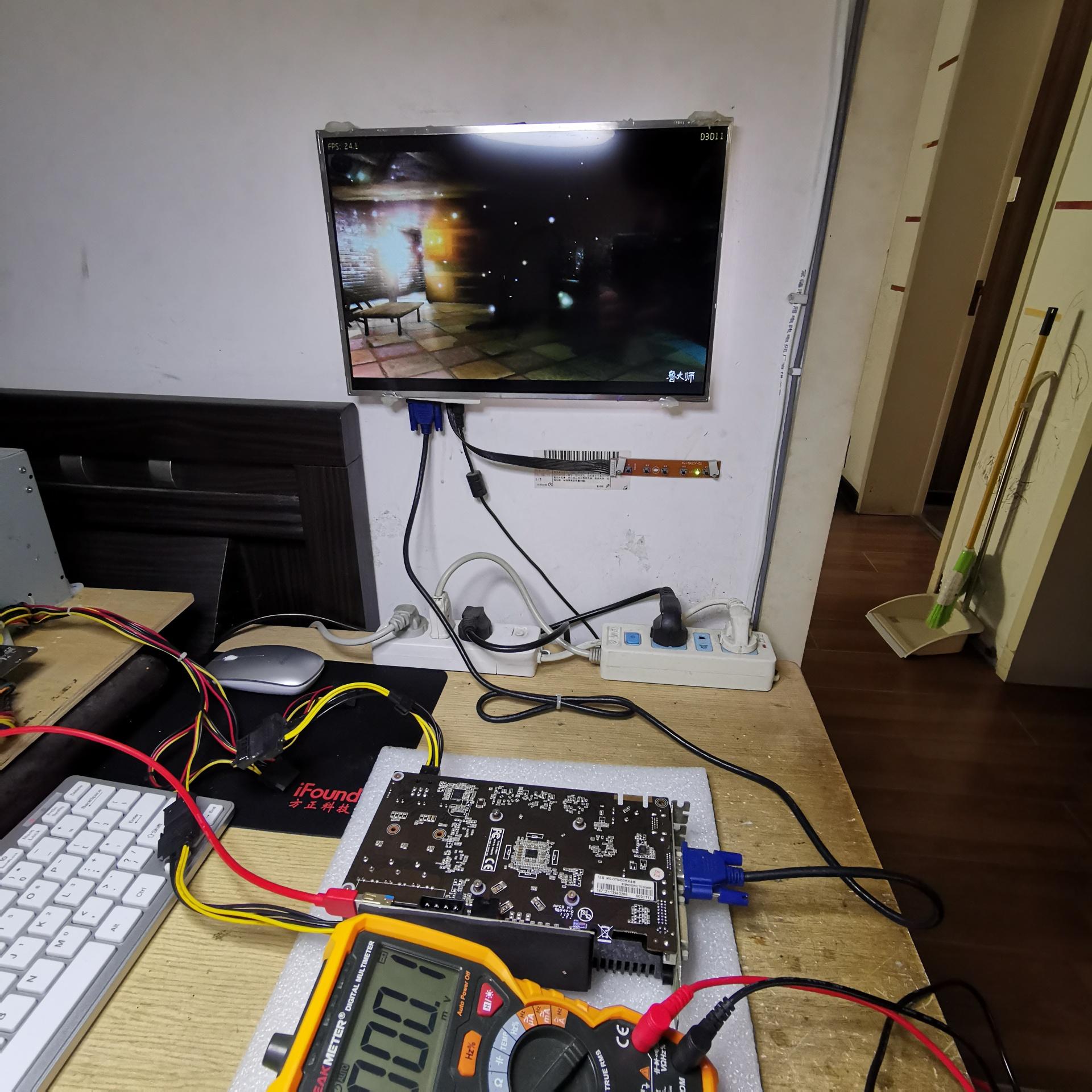 铭瑄GTS450显卡开机正常显示,进系统黑屏维修