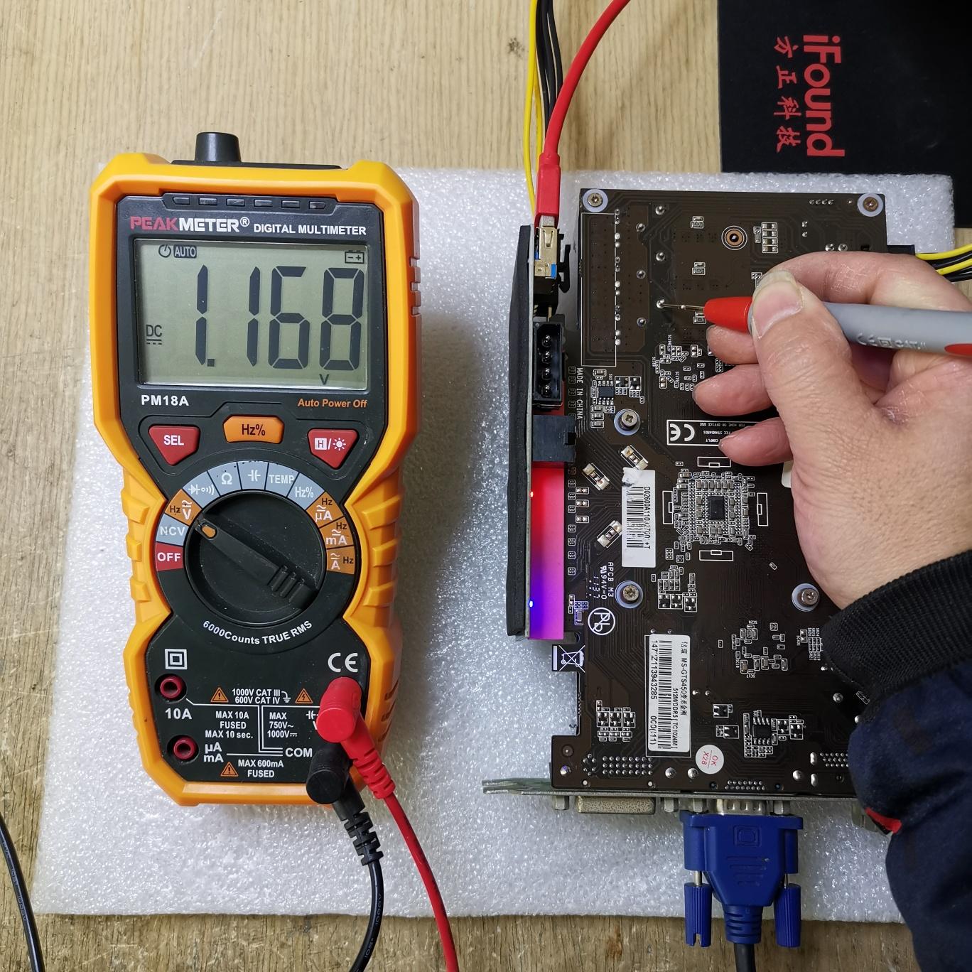 铭瑄GTS450显卡开机正常显示,进系统黑屏维修 图4